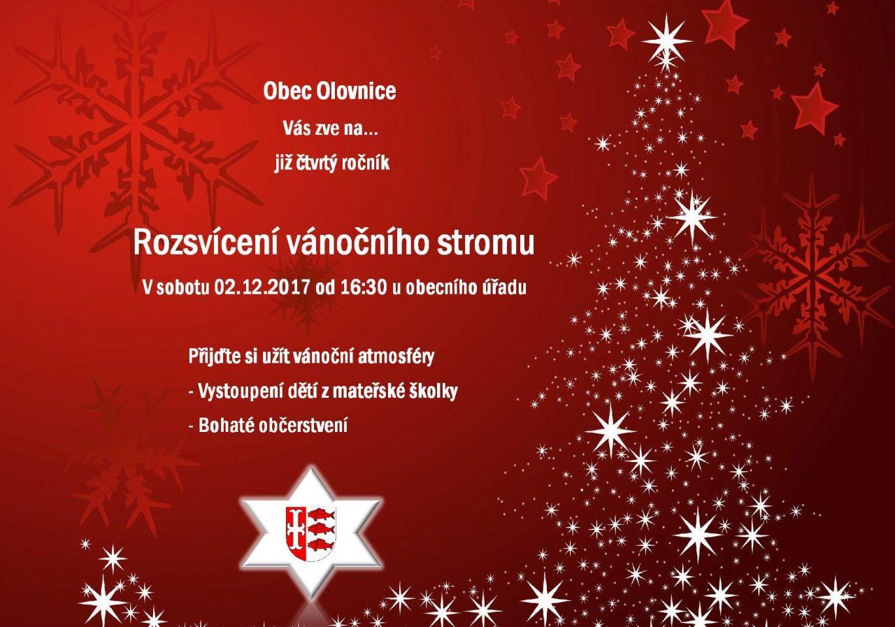 Rozsvícení vánočního stromečku v Olovnici - 2. 12. 2017